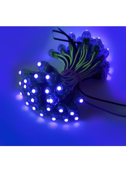 led pixel punch 9mm albastru blue 12V